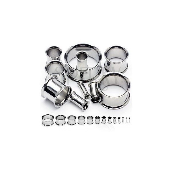 Surgical steel ear tunnel with curved edges