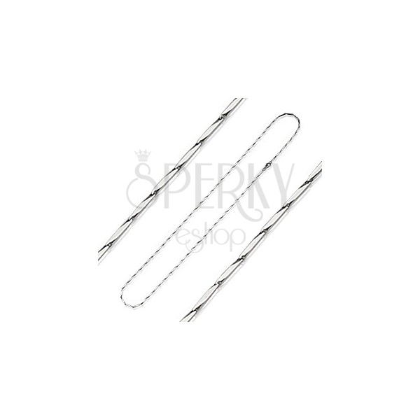 Stainless steel chain - prism cut links