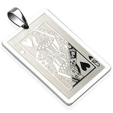 Stainless steel pendant - Queen of Hearts