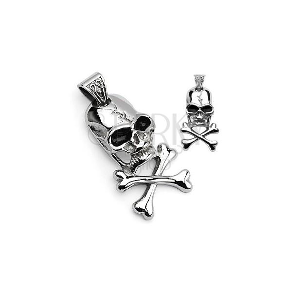 Pirate symbol pendant - skull and crossbones