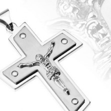 Stainless steel pendant - Christ on cross