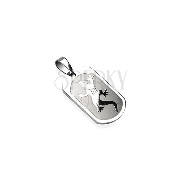Stainless steel lizard pendant