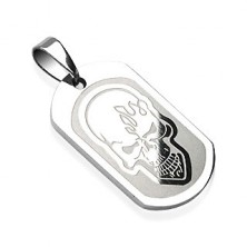 316L stainless steel pendant - skull engraved into details
