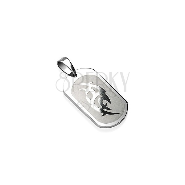 Stainless steel pendant with Chinese tatoo