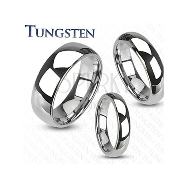 High shine tungsten wedding ring