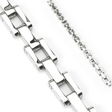Surgical steel bracelet in chain style with screws