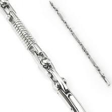 Surgical steel bracelet - spring and movable cylinder