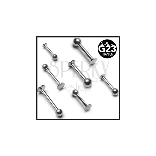 Titanium labret piercing with ball bead