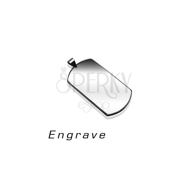 Pendant made of surgical steel - DOG TAG, silver colour