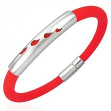 Rubber bracelet - four drops, orange