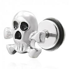 Pirate skull false piercing - fake plug