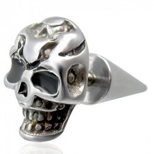 Fake plug with scary skull