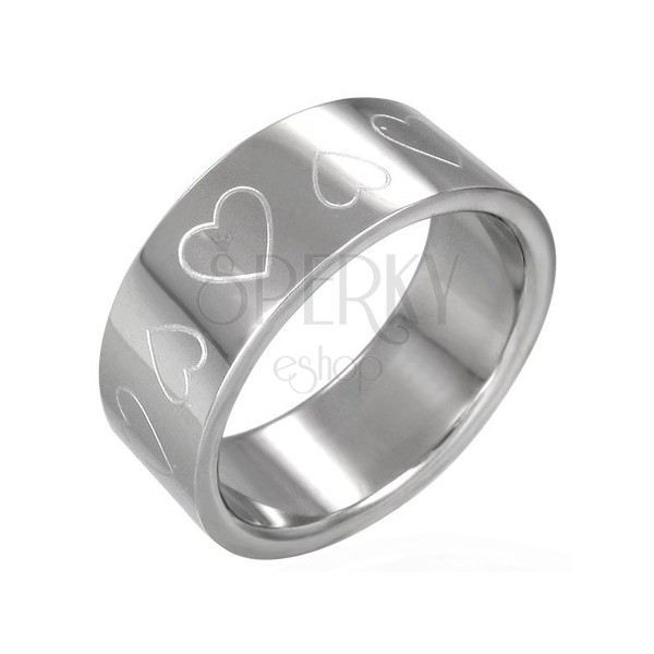 Heart stainless steel ring