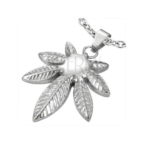 Stainless steel pendant - pot leaf