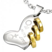 LUCKY LOVE stainless steel heart