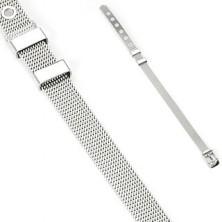 Belt style stainless steel bracelet