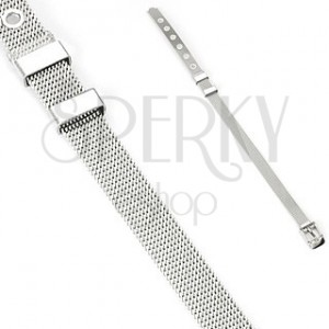 Belt style stainless steel bracelet