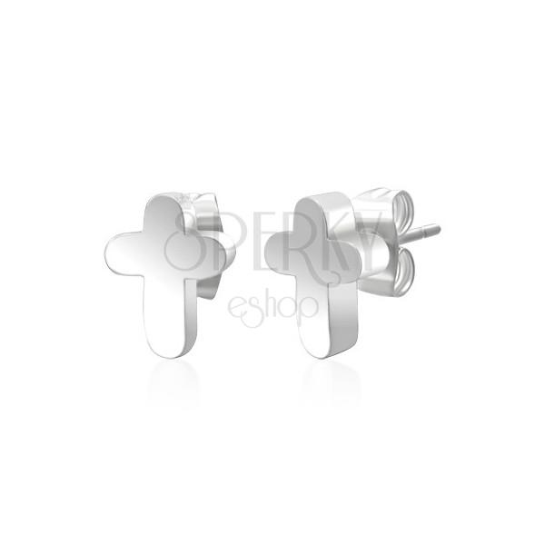 Surgical steel earrings - cross