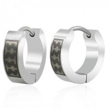 Huggie stainless steel earrings - black pattern