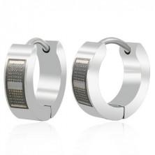 Stainless steel earrings - dotts in rectangle