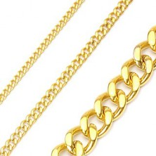 Stainless steel chain necklace in gold colour