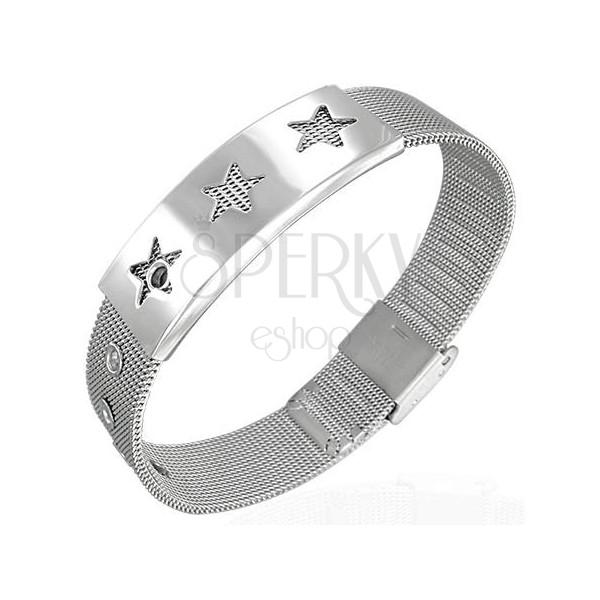 Mesh steel bracelet - stars