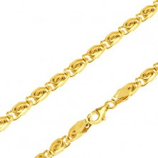 Chain made of 14K yellow gold - S-shaped pattern, 490 mm