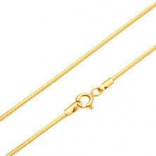 Gold chain - links arranged into snake skin pattern, 450 mm