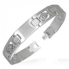 Stainless steel scorpion link bracelet