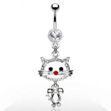 Navel ring - kitten