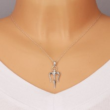 925 silver pendant - trident of Neptune with glossy surface