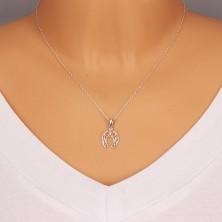 925 silver pendant - horseshoe for luck, thin rope, symmetric motif
