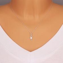925 silver pendant - clear zircons, tiny cut-outs, zodiac sign SCORPIO