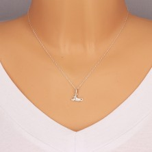 925 silver pendant - glittery zircons, glossy surface, zodiac sign LEO