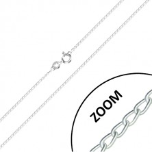 925 silver chain - slightly twisted rings, joined into series, 1,2 mm