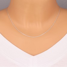 925 silver chain - perpendicularly joined rings, flat circles, 1,3 mm