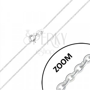 925 silver chain - tiny round rings, perpendicularly joined, 0,9 mm