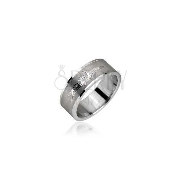 Stainless steel ring - Tribal ornament