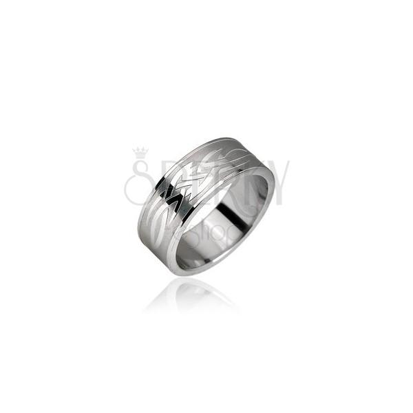 Stainless steel ring - Tribal motive