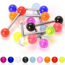 Titanium tongue piercing - UV balls