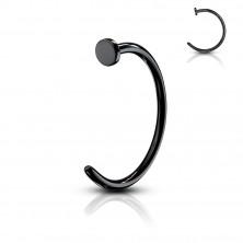 Coloured horseshoe piercing - anodized titanium, glossy finish, 1 mm