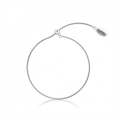 "925 Silver bracelet, slip on – snake chain, oval plate with a writing ""FRIENDS"""