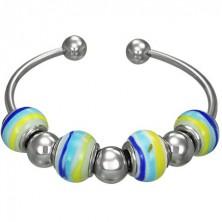 Murano style bracelet - candy ball beads