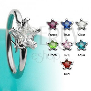 Body ring with star-shaped zircon