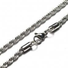 Steel chain, twisted string pattern, 3 mm