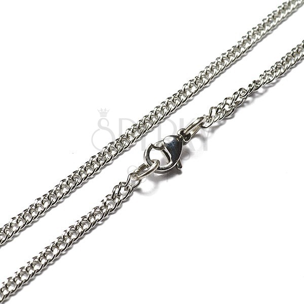 Flat stainless steel chain - small links