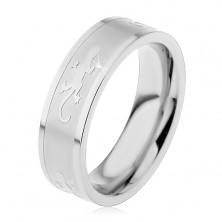 Lizard steel ring