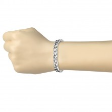 Surgical steel bracelet - chain, waves