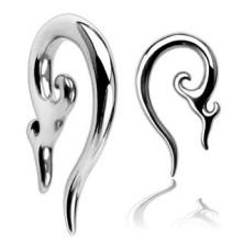 Stainless steel ear piercing - ornamental spiral