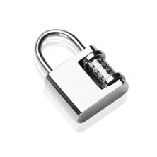 Stainless steel padlock pendant